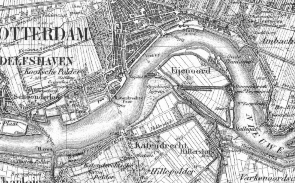 kaart katendrecht 1851